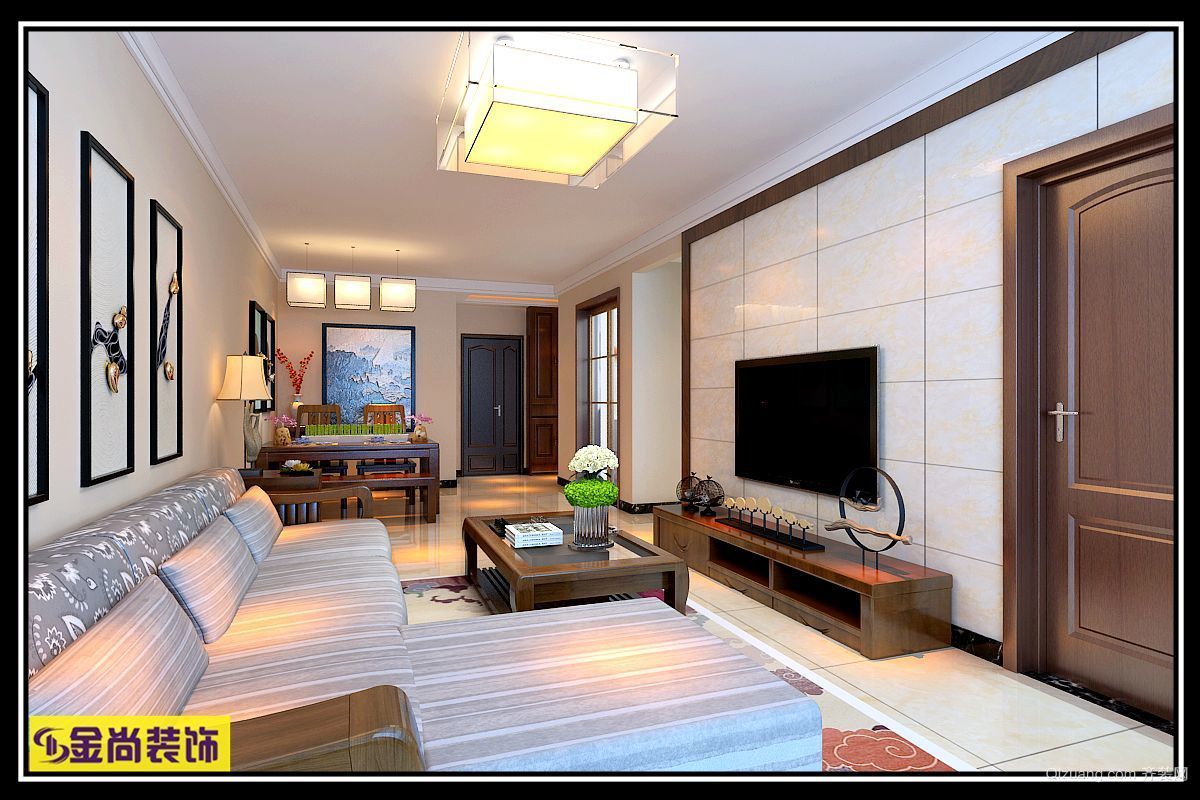 名辉豪庭中式风格装修效果图实景图