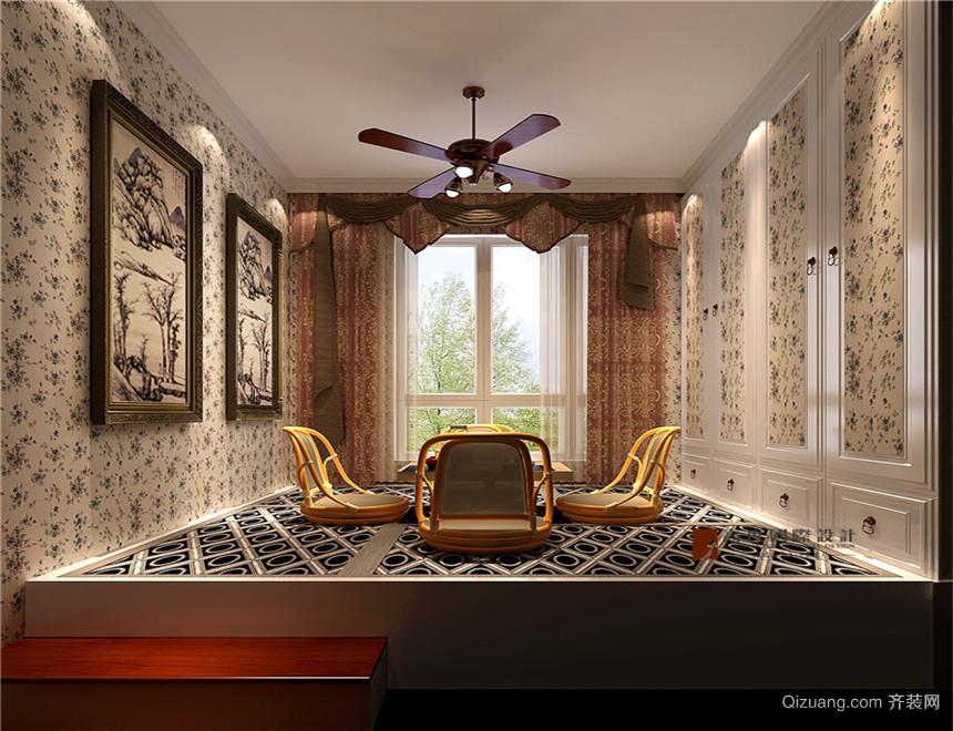 鲁能7号院溪园欧式风格装修效果图实景图