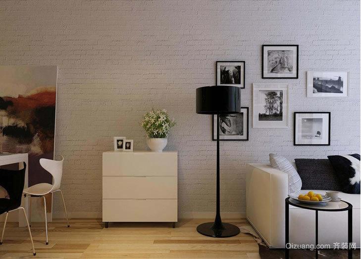 [重庆桔子装饰]南方玫瑰城两居室现代风现代简约装修效果图实景图