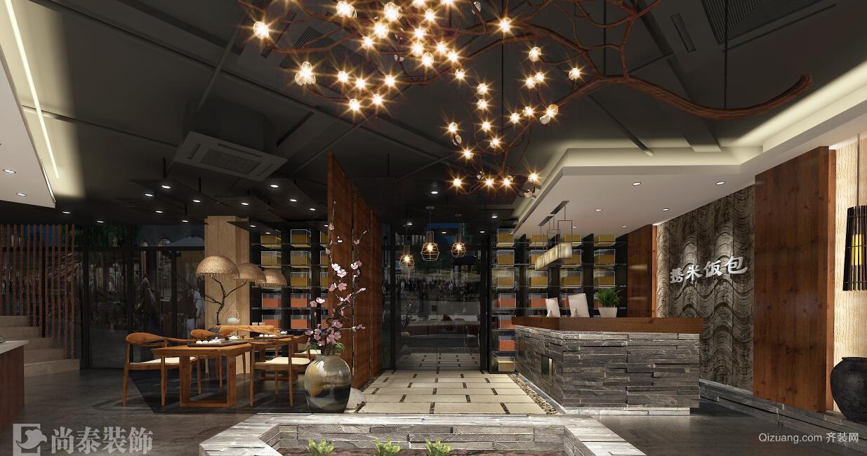 中央原著藏珑苑65号店铺现代简约装修效果图实景图