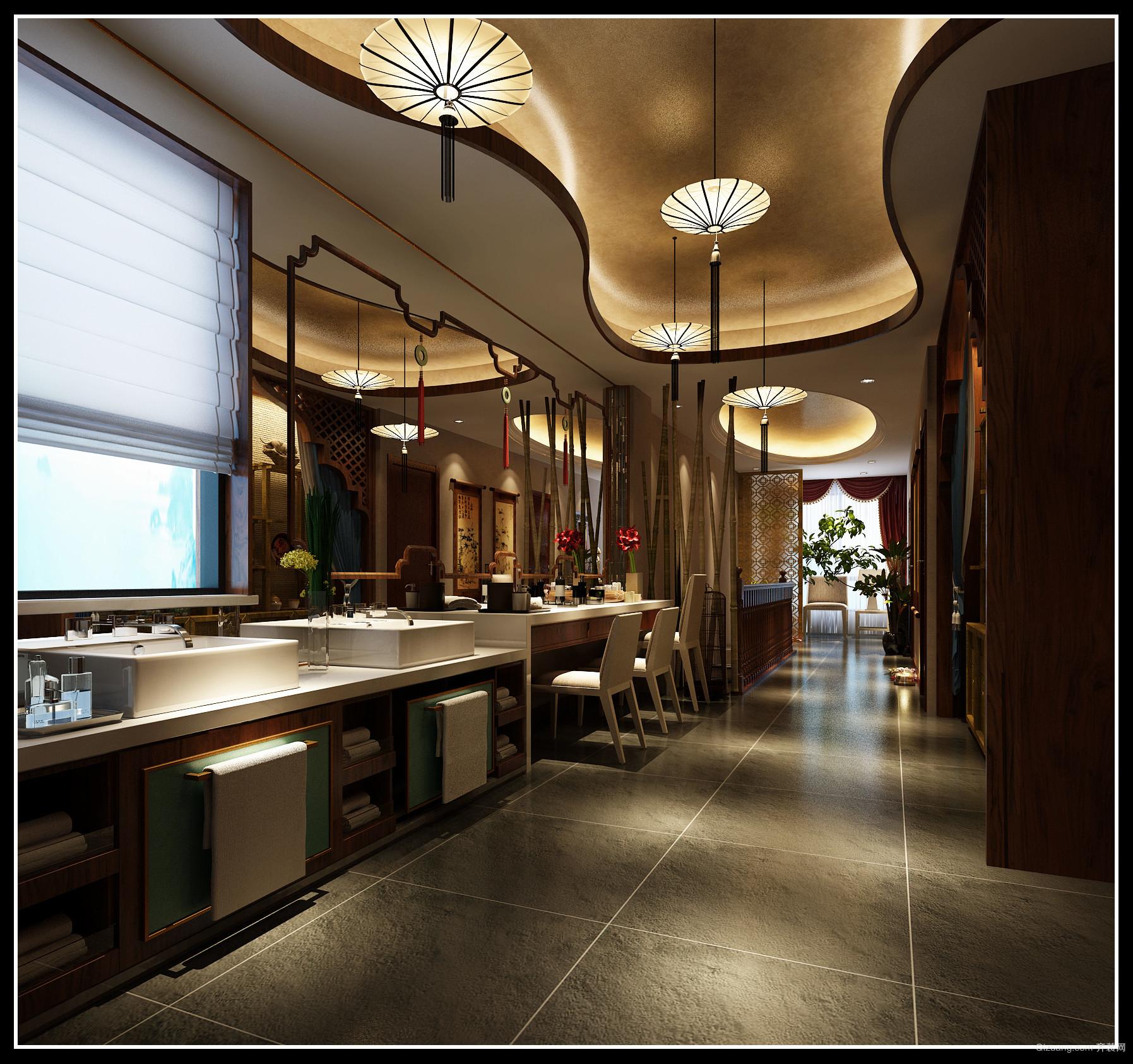 瑞达路禅美养生会馆混搭风格装修效果图实景图