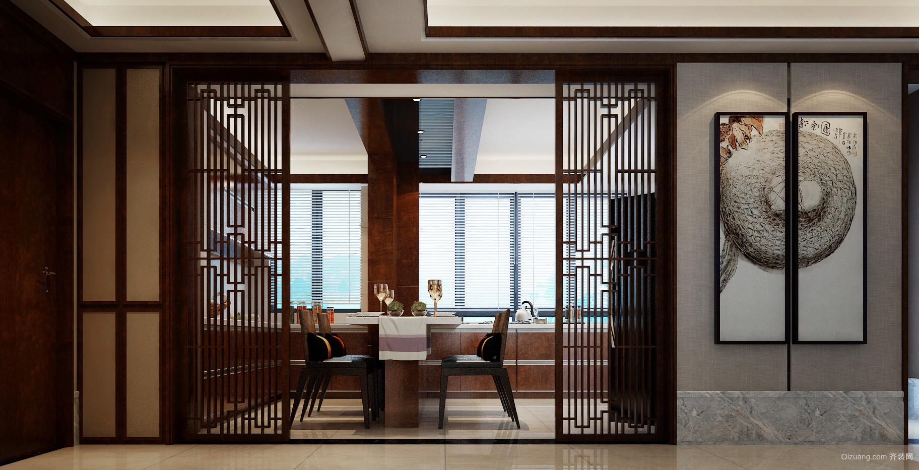 中豪汇景湾中式风格装修效果图实景图