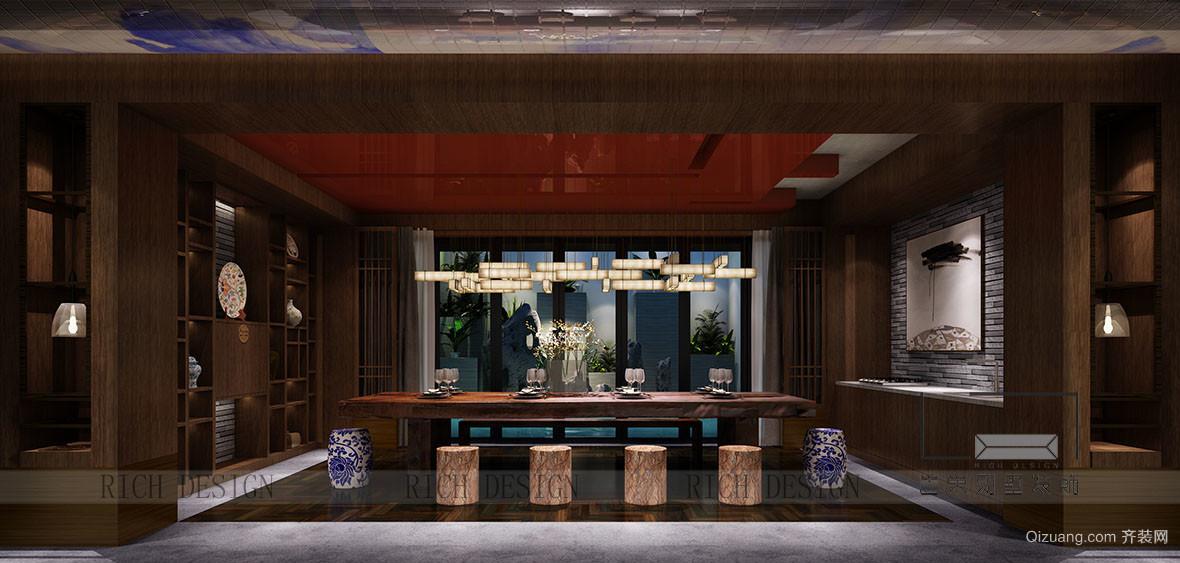 中海千灯湖一号古典风格装修效果图实景图