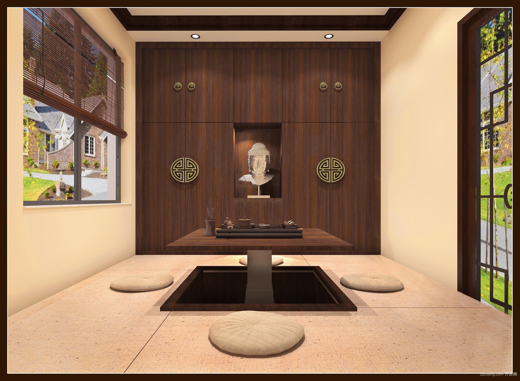 尚东城中式风格装修效果图实景图