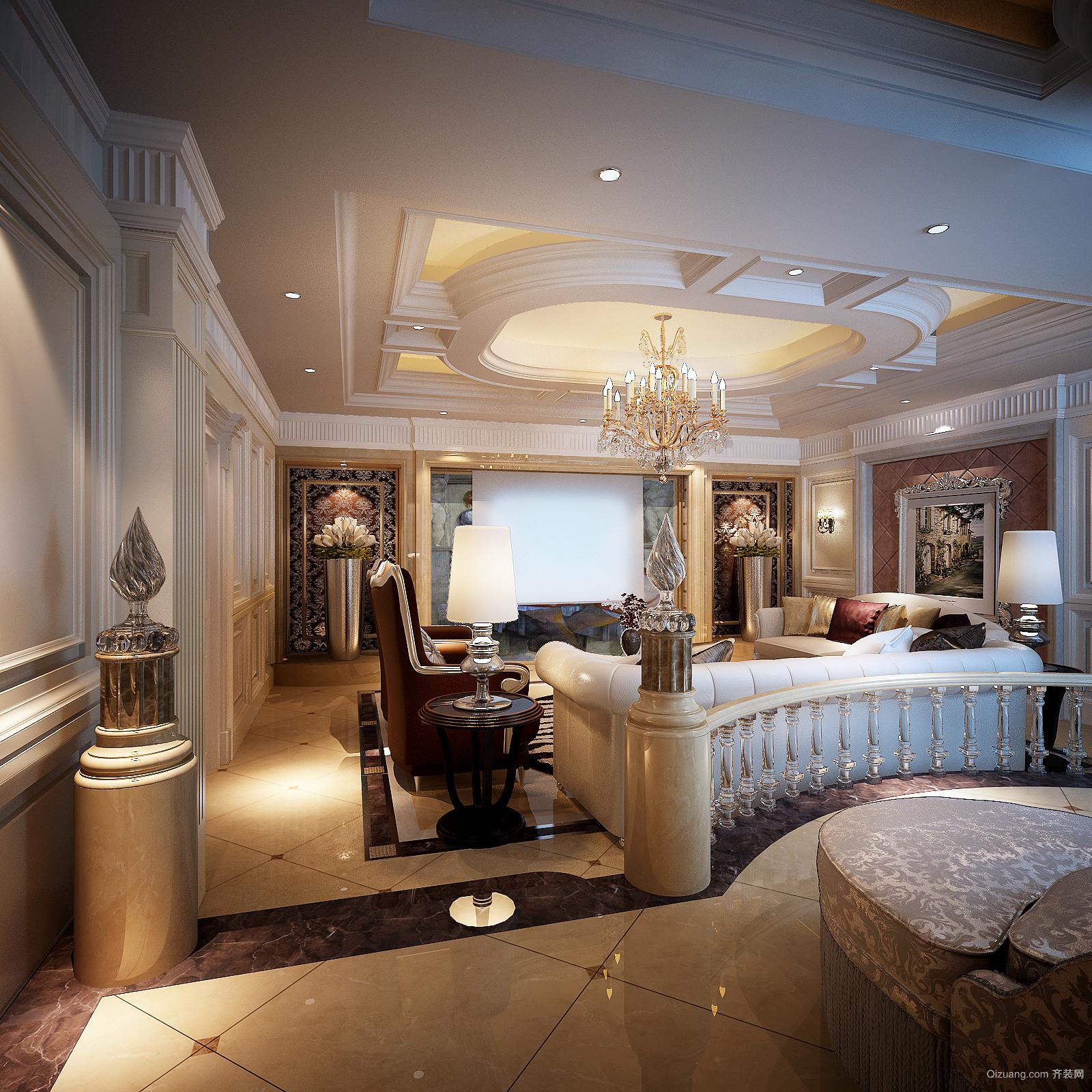 融创星美御别墅欧式风格装修效果图实景图