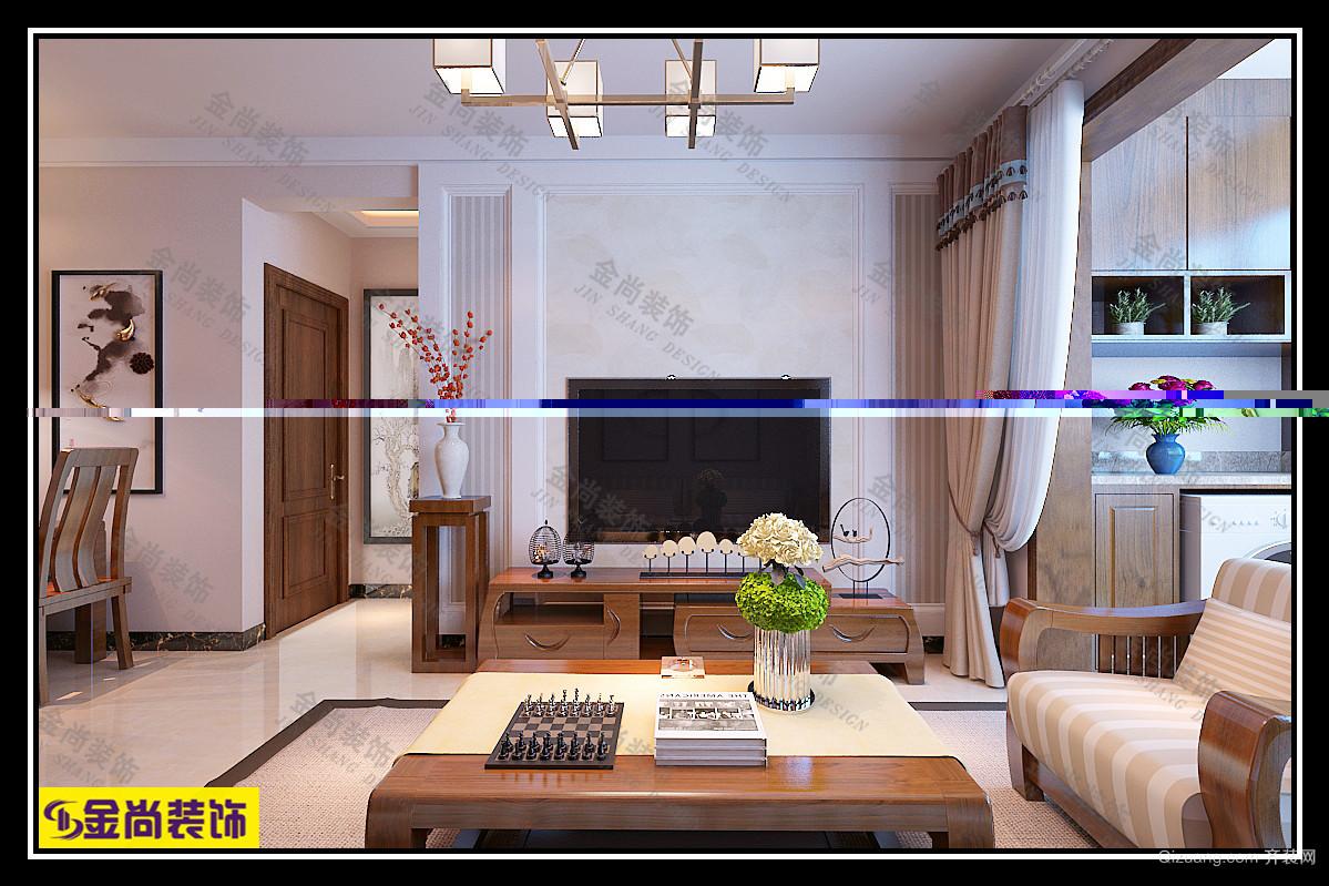 龙泉一号中式风格装修效果图实景图