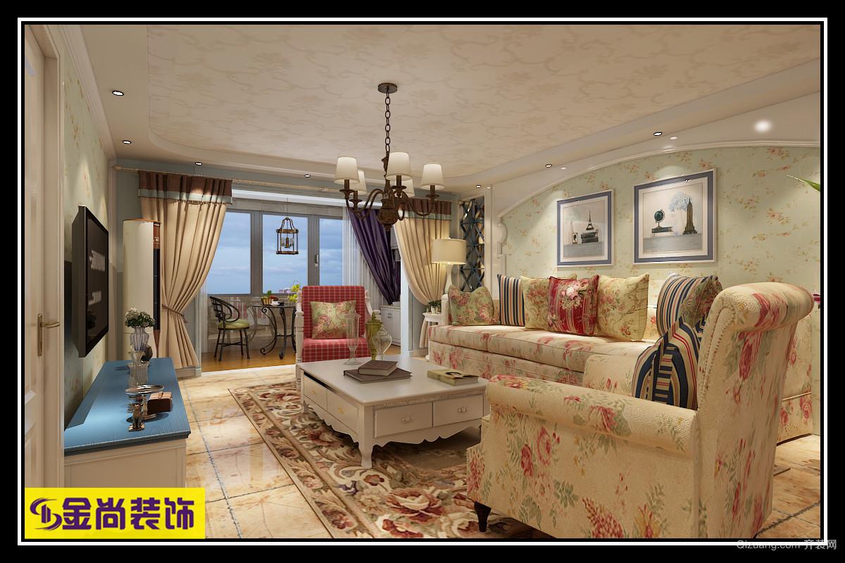 绿地隆悦公馆地中海风格装修效果图实景图