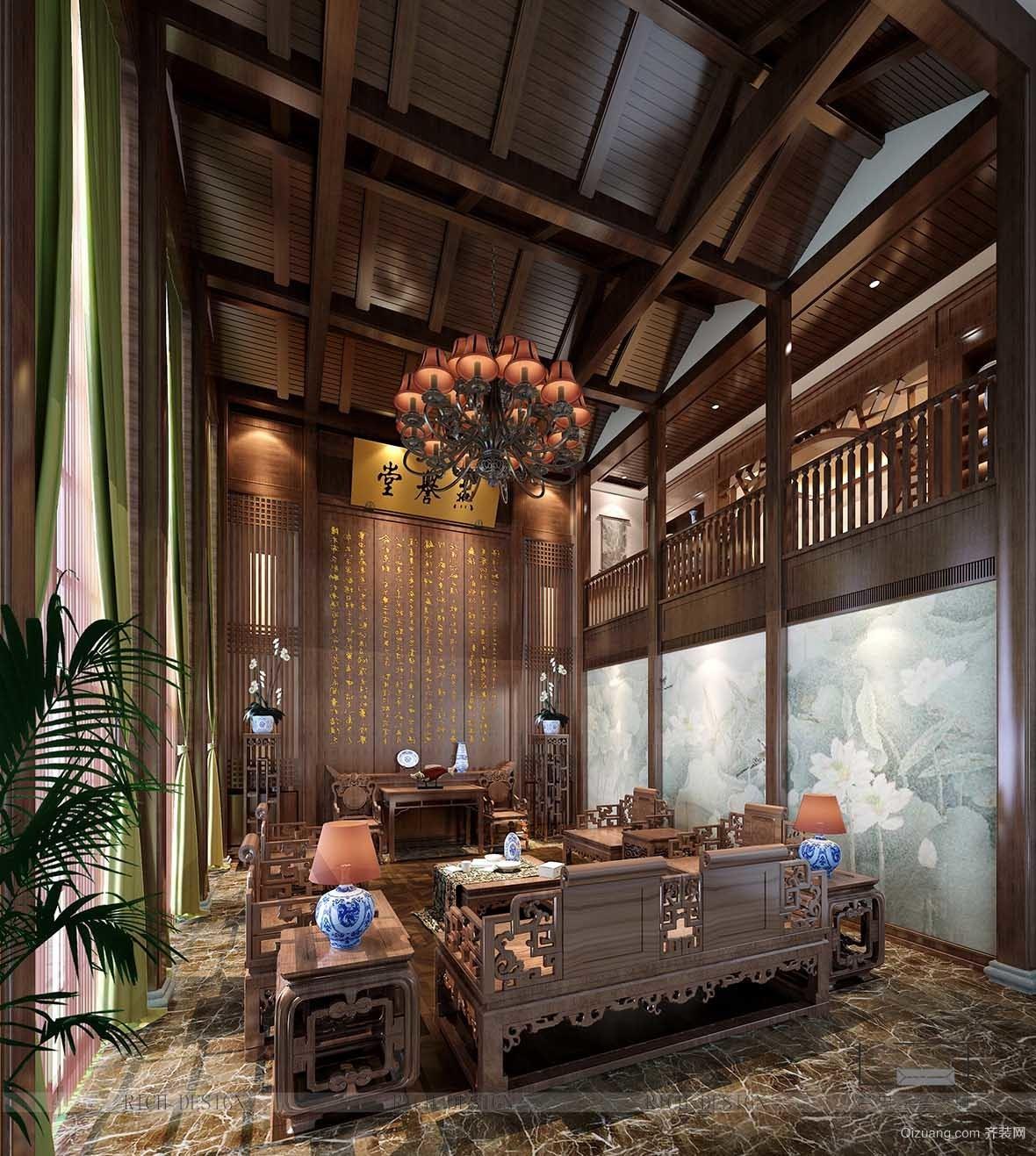 时代香海彼岸中式风格装修效果图实景图