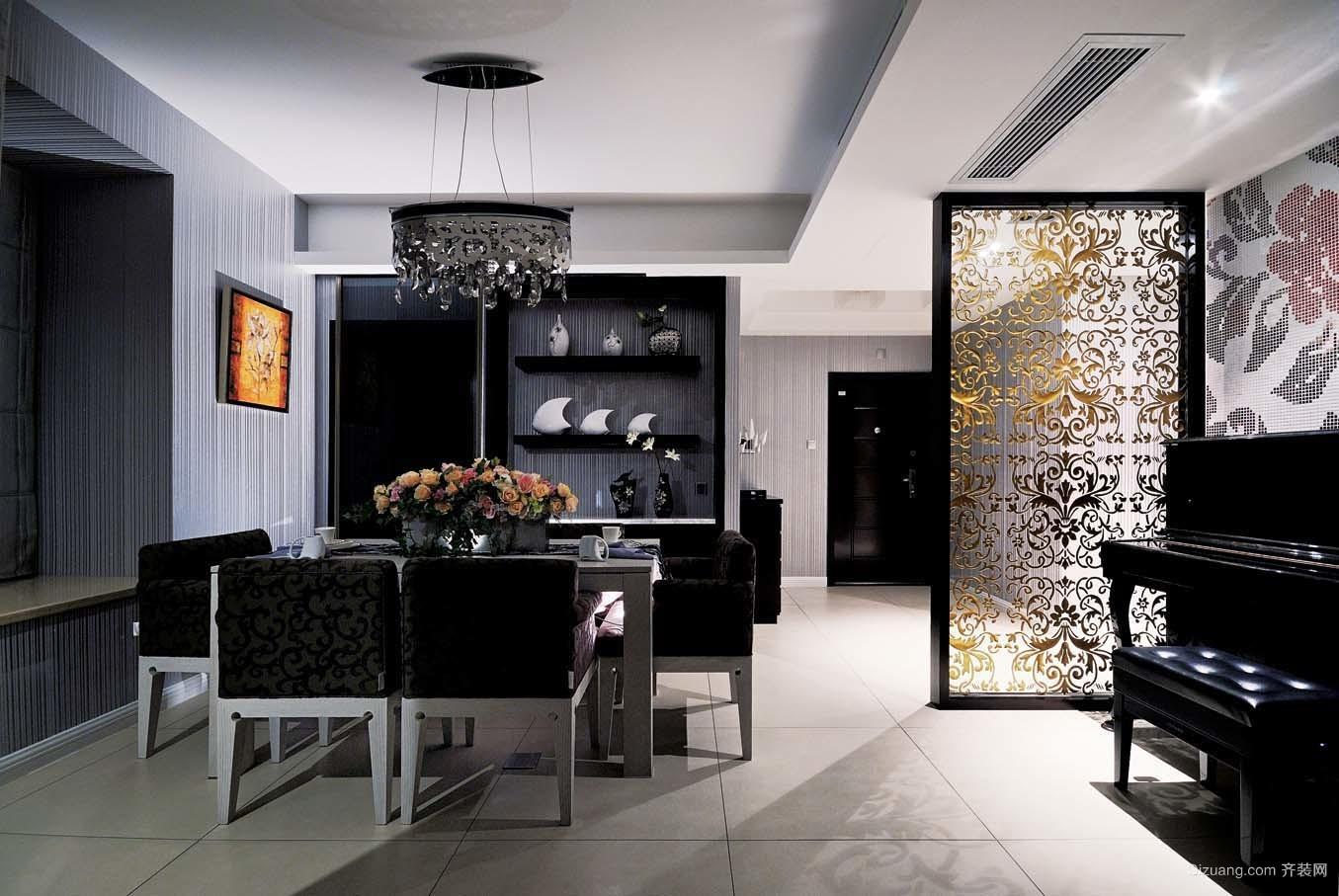 [重庆桔子装饰]保利江山明珠三居室现代时尚风现代简约装修效果图实景图