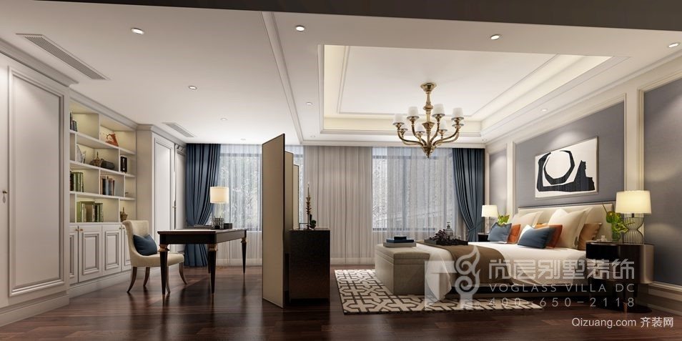 中信珺台别墅美式风格装修效果图实景图