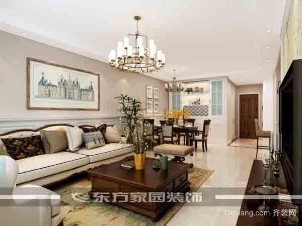 中海蓝庭中式风格装修效果图实景图