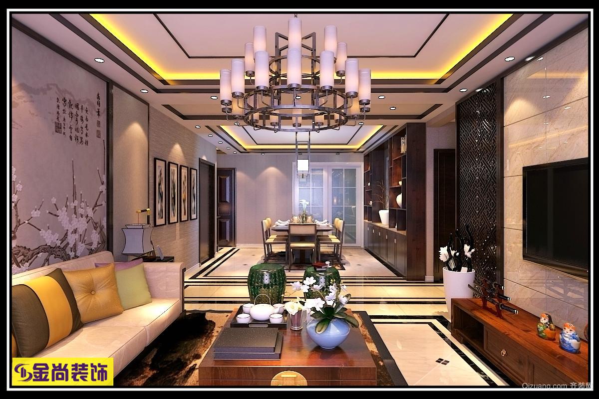泰悦·赫府中式风格装修效果图实景图