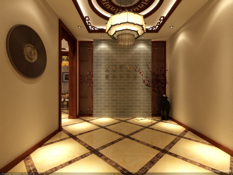 公主岭会所中式风格装修效果图实景图