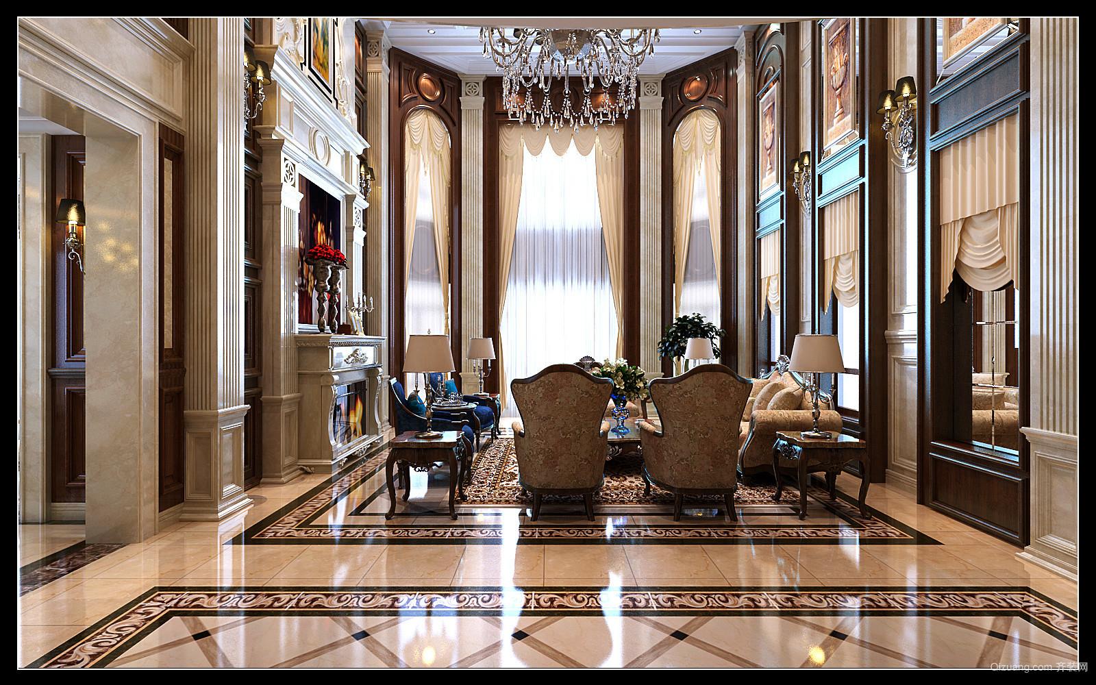欧式奢华和记黄埔欧式风格装修效果图实景图