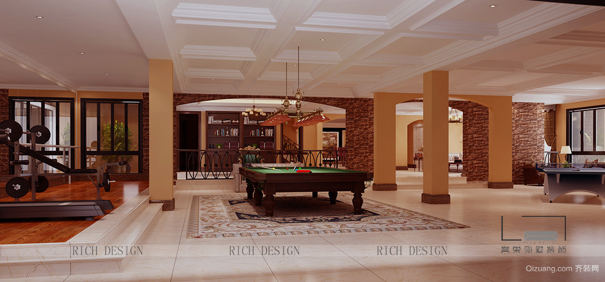 宏宇景裕豪园欧式风格装修效果图实景图