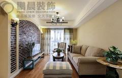 东方蓝海106平乡村古典装饰效果图