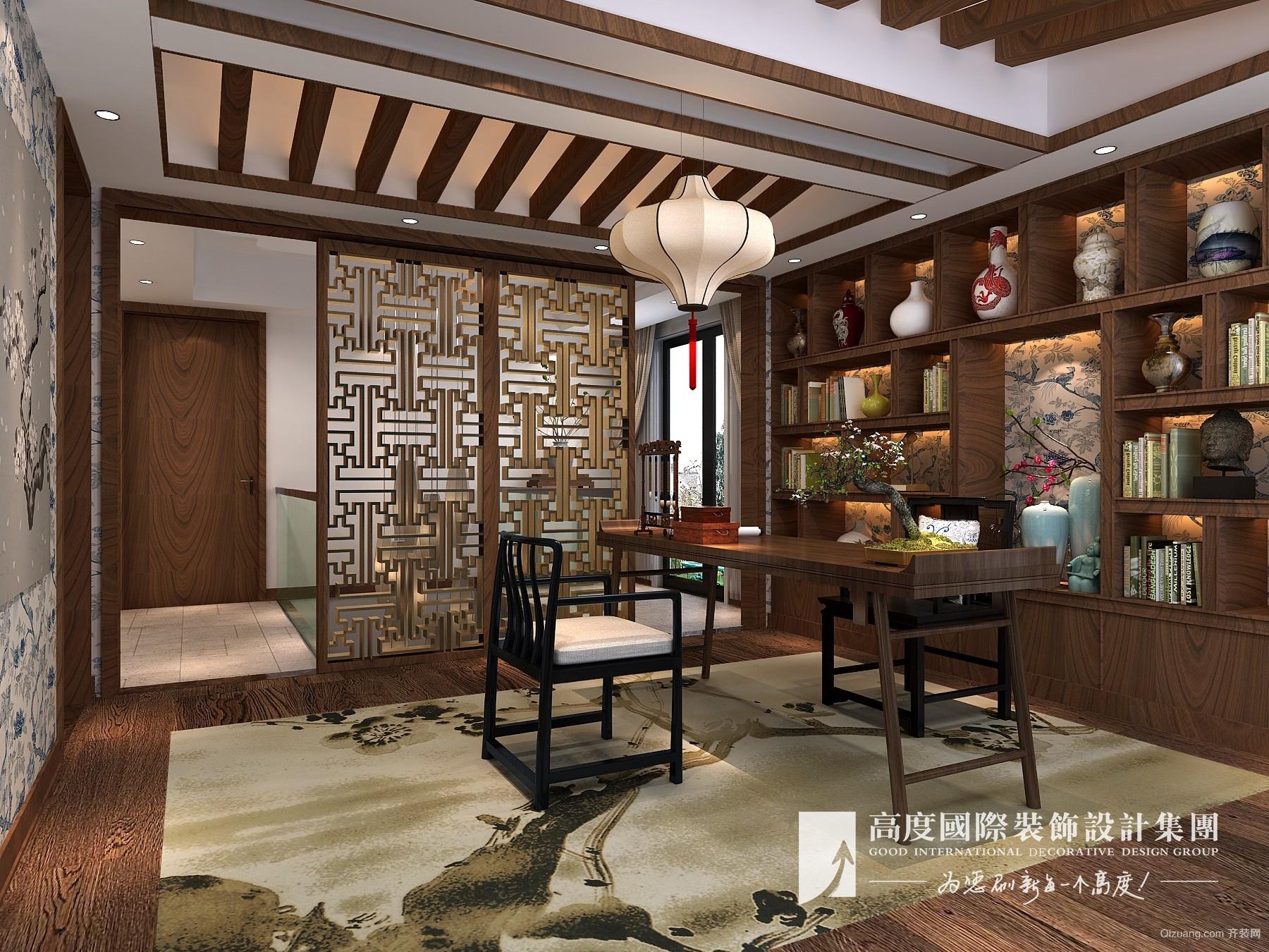 金科中央御园中式风格装修效果图实景图