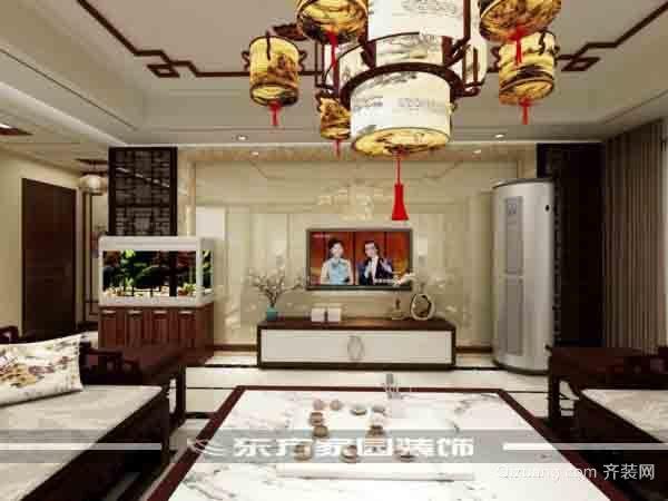 城阳区弘通和田城中式风格装修效果图实景图