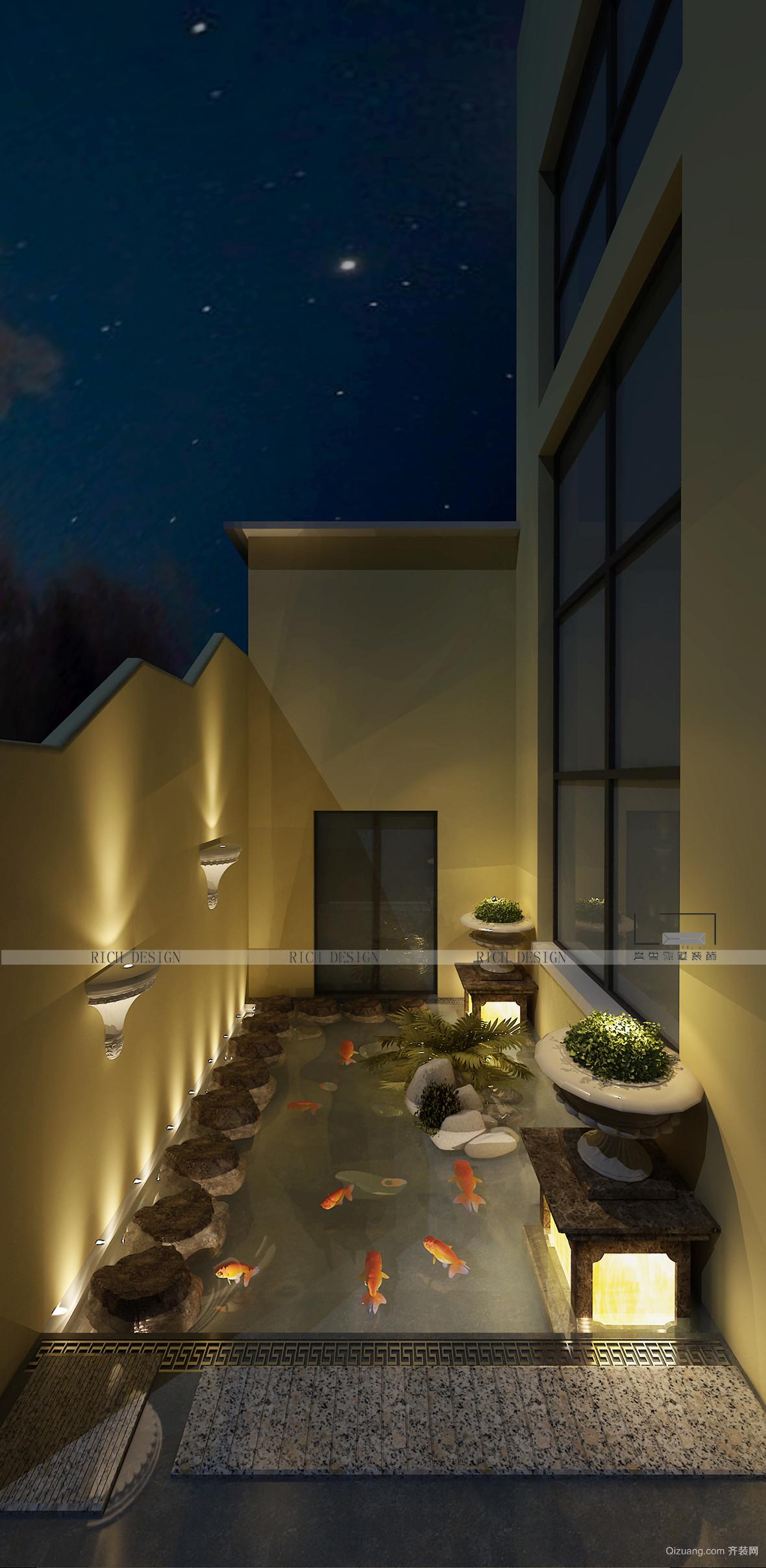 中昂翠屿湖欧式风格装修效果图实景图