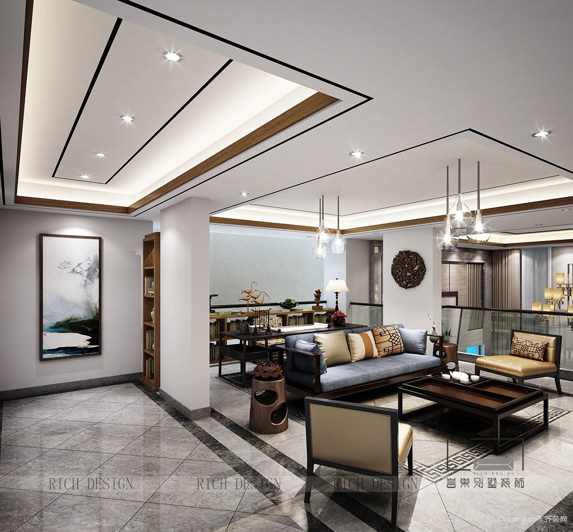 碧桂园凤凰湾中式风格装修效果图实景图