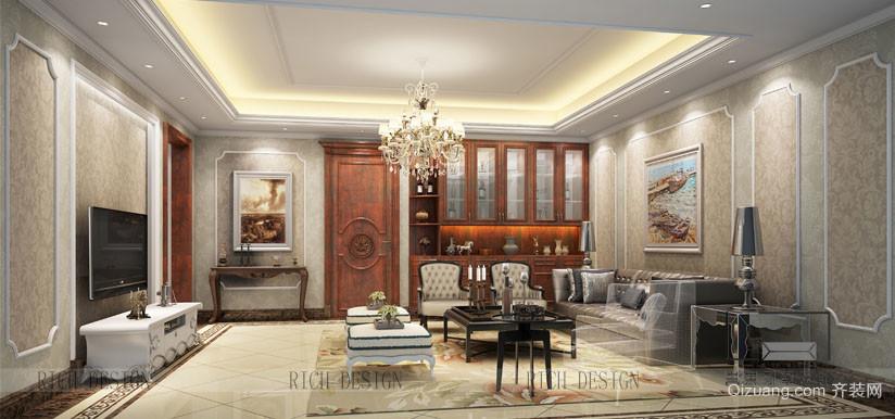 中海金沙里古典风格装修效果图实景图