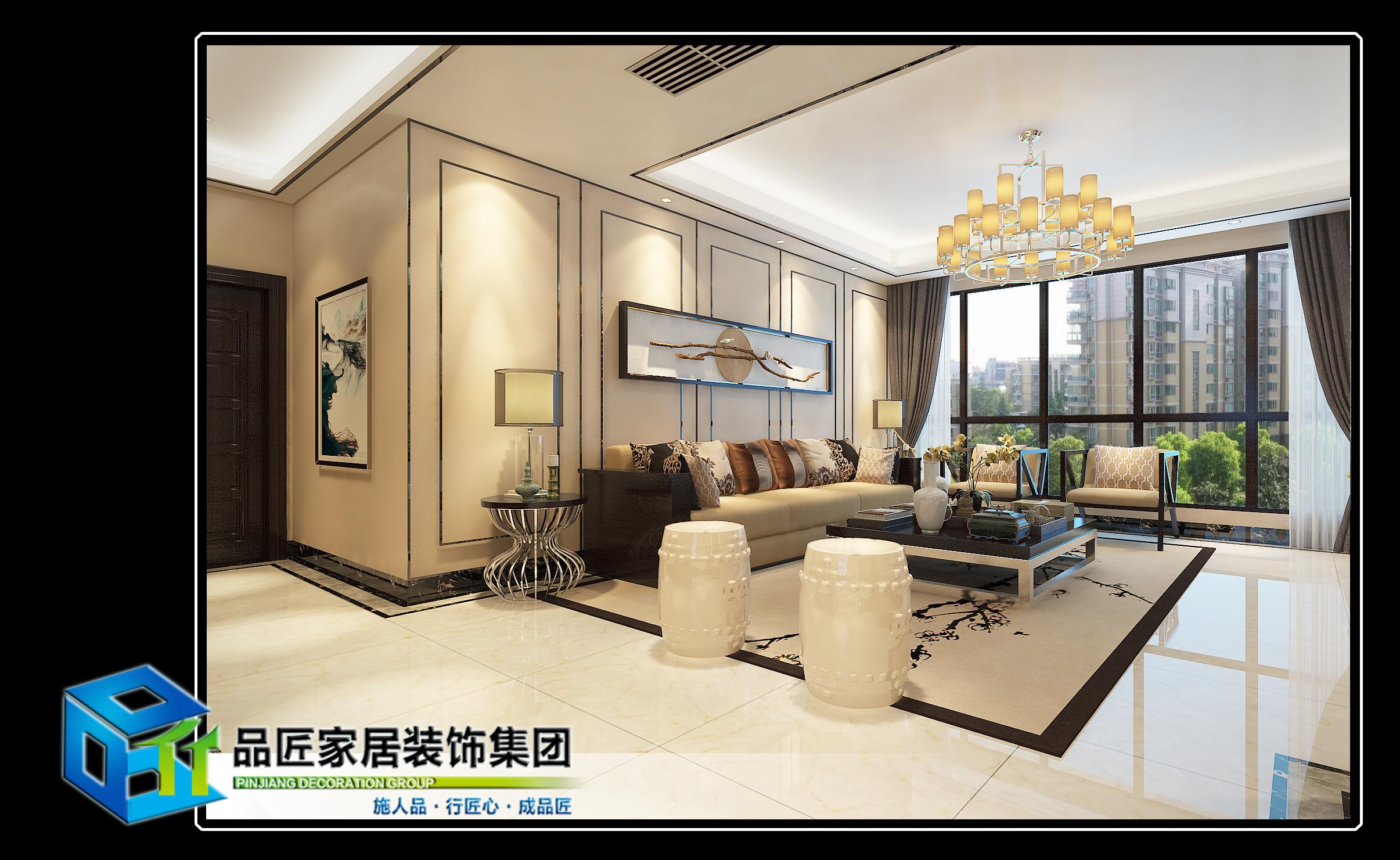 东涫首座中式风格装修效果图实景图