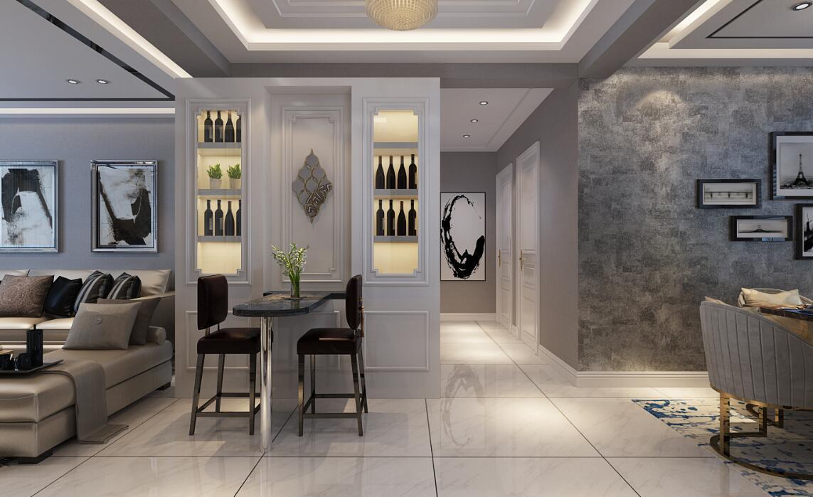 谭泽东南明珠现代简约装修效果图实景图