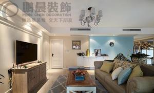 东方蓝海88平美式装饰效果图