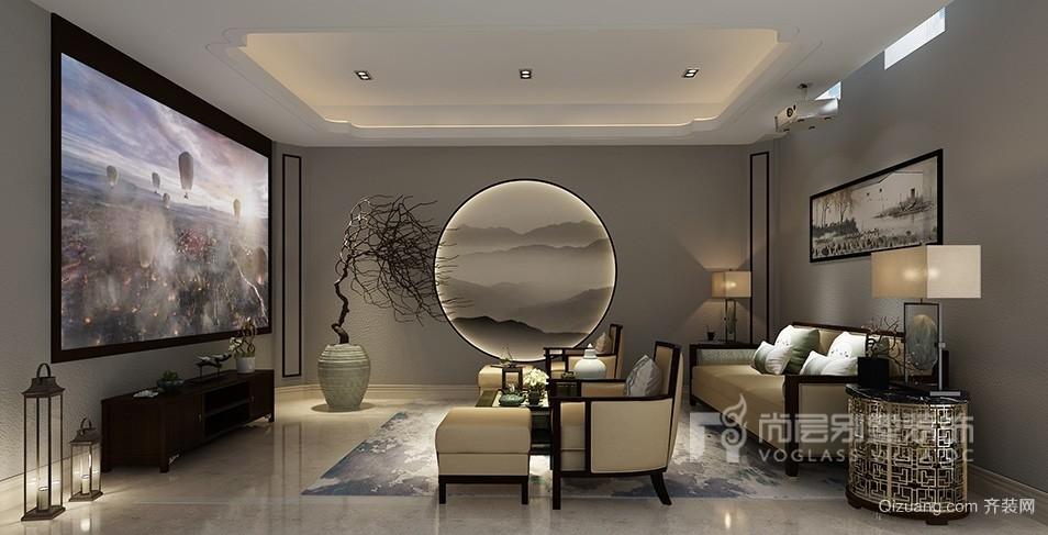 社会山别墅中式风格装修效果图实景图