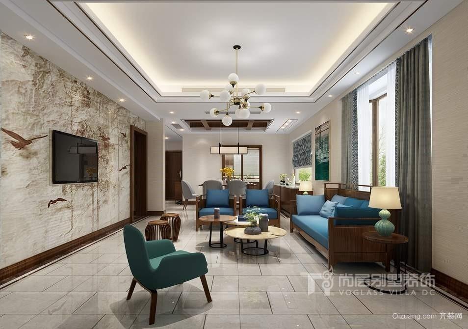 鲁能七号院中式风格装修效果图实景图