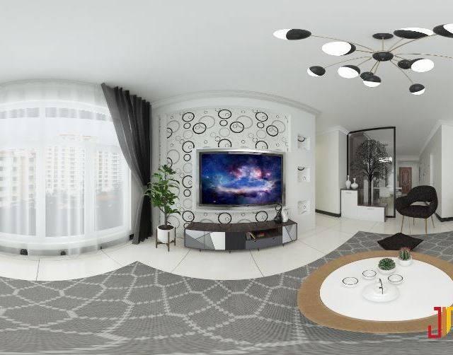 华新家园87㎡普通户型现代简约装修案例