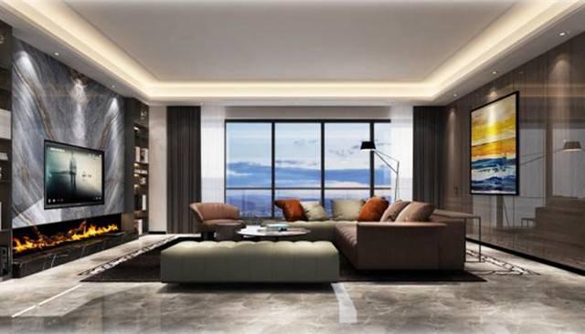 東鳳金爵豪庭310㎡別墅現代簡約裝修案例