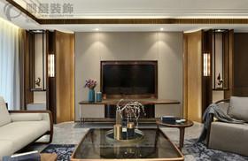 东方蓝海124平中式风格装饰效果图