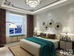 青岛崂山都市果岭148㎡新中式三居室