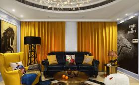 官山翰林127平美式风格装饰效果图