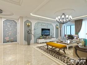 青岛晓港名城简雅美式简朴四居176㎡ 家居设计