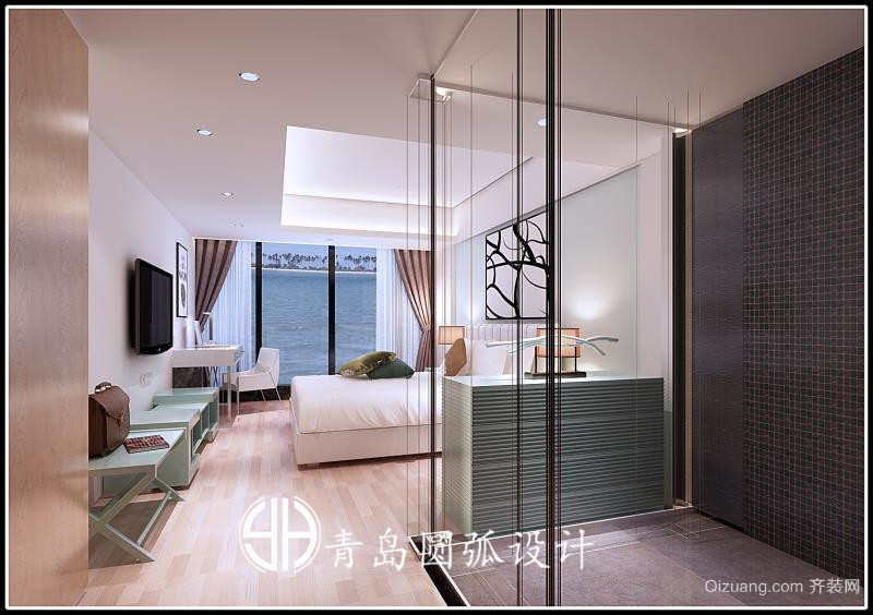 仰口酒店混搭风格装修效果图实景图