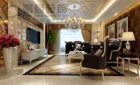 伟星玲珑湾藏岛128平欧式风格装饰效果图