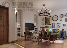 信德悦城99平现代风格装修效果图
