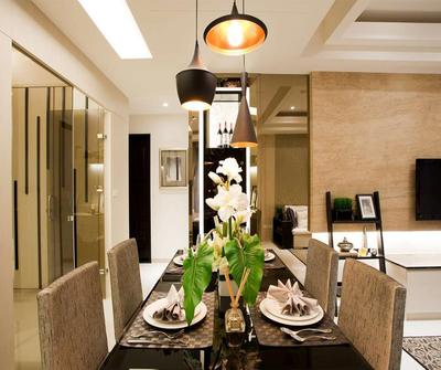 金山129现代简约三居装修设计案例