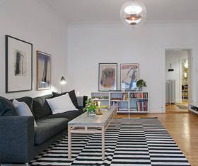 130暖橘色北欧三居装修设计案例