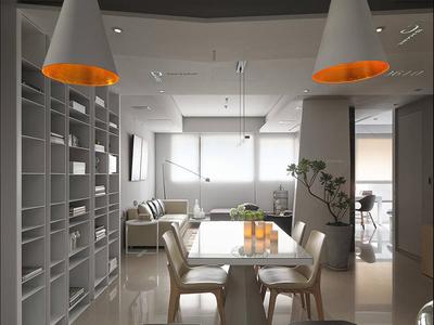 金山139现代简约三居装修设计案例