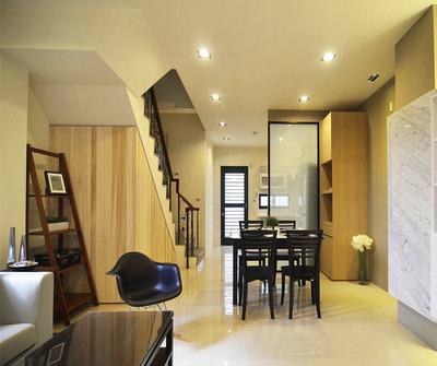 金山132现代简约三居装修设计案例