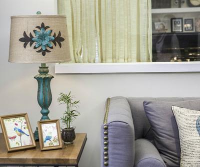 金山123简约三居装修设计案例