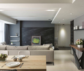 132现代简约二居装修设计案例