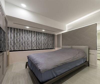 金山135现代简约三居装修设计案例