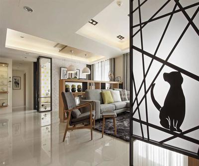 金山116现代简约三居装修设计案例