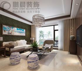华强城颐景湾畔藏湖110平东南亚风格装修效果图