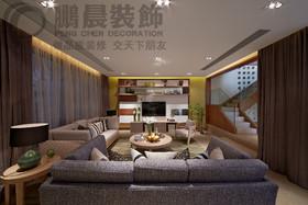 [鹏晨装饰]华强城颐景湾畔藏湖117平复式现代风格装修效果图