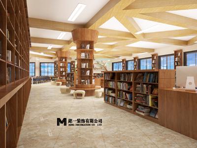 蒙城翰林学校图书馆装修设计案例